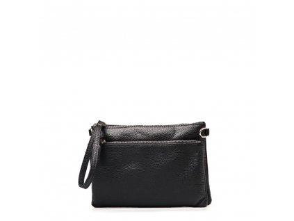 Kožená crossbody kabelka - psaníčko Claudia černá