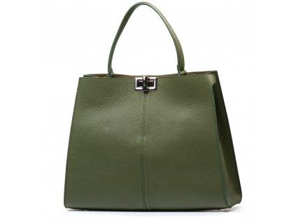 Kožená kabelka Moos zelená