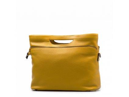 Kožená kabelka Nuria hořčicově žlutá