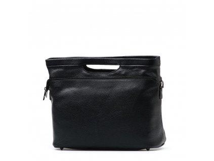 Kožená kabelka Nuria černá