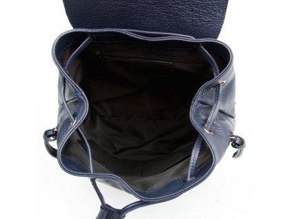 Kožený batůžek Guilio tmavě modrý