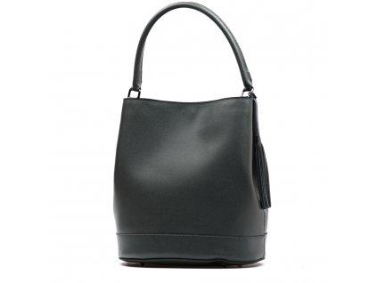 Kožená kabelka Florence tmavě šedá