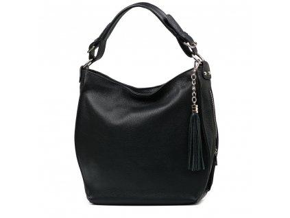 Kožená kabelka Liviana černá