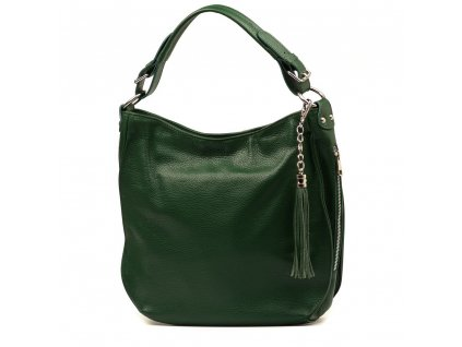 Kožená kabelka Liviana zelená