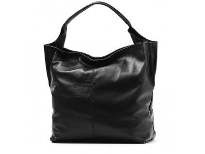 Kožená kabelka Rosana černá