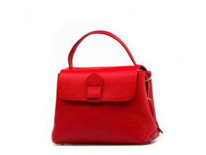 Kožená kabelka Mable červená