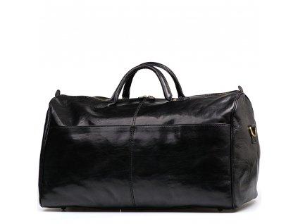 Kožená cestovní taška  Milva černá