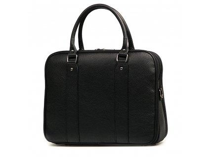Kožená pracovní taška Sam černá