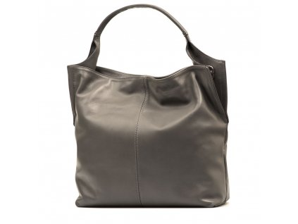 Kožená kabelka Rosana šedá