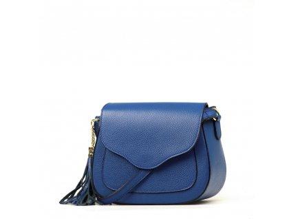 Kožená crossbody kabelka Fosca modrá