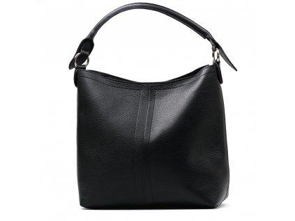 Kožená shopper kabelka Casilda černá