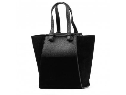 Kožená kabelka Lenza černá