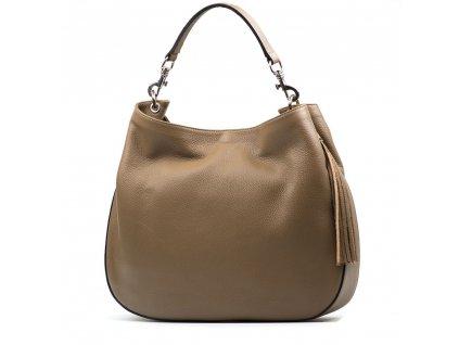Kožená kabelka Amelia taupe