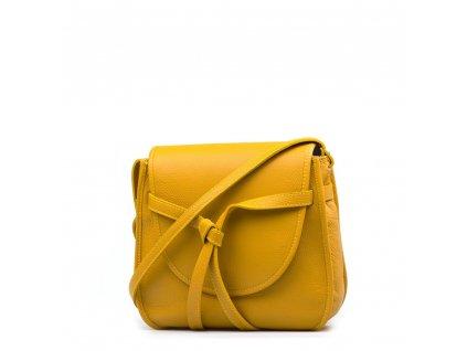 Kožená crossbody kabelka Daria hořčicově žlutá