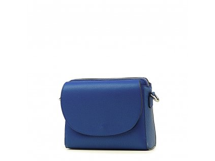 Kožená crossbody kabelka Otilia modrá