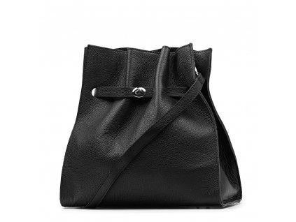 Kožená kabelka Miranda černá
