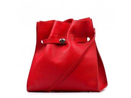 Kožená kabelka Miranda červená
