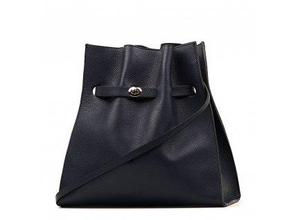 Kožená kabelka Miranda tmavě modrá