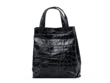 Kožená kabelka Renee černá