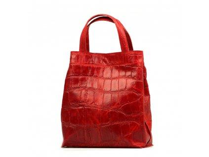 Kožená kabelka Renee červená