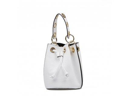 Kožená kabelka Elvira bílá