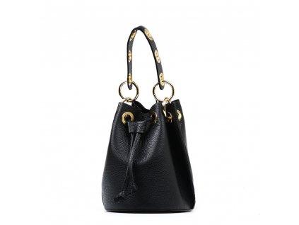 Kožená kabelka Elvira černá