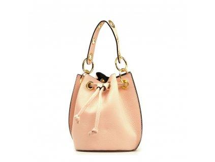 Kožená kabelka Elvira růžová