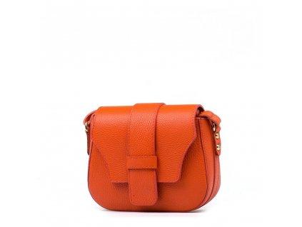 Kožená crossbody kabelka Arden oranžová