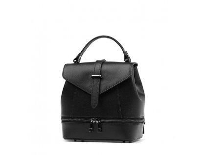 Kožený batůžek Samar černý