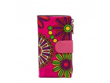 Kožená peněženka s motivem Noemi fuchsiová