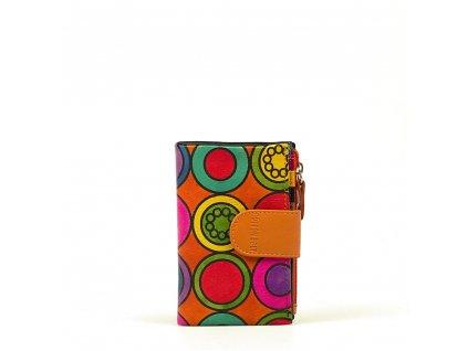 Kožená peněženka s motivem Pati oranžová