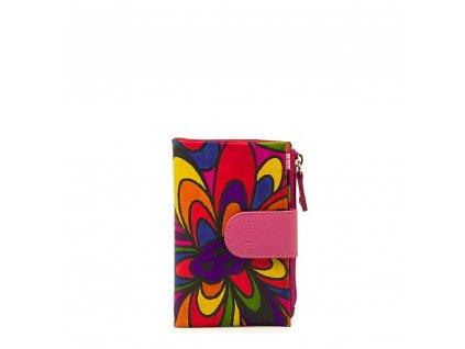 Kožená peněženka s motivem Pati růžová