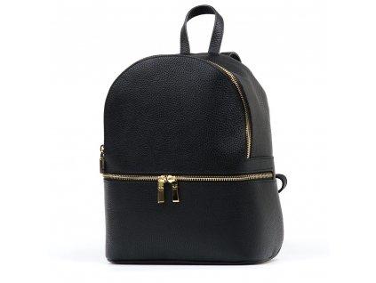 Kožený batůžek Zinnia černý