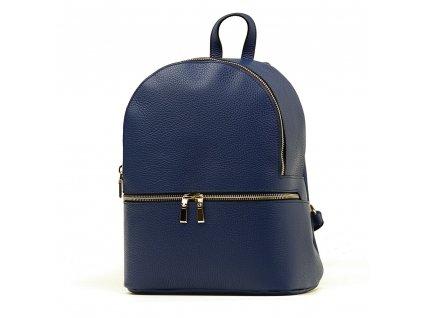 Kožený batůžek Zinnia modrý