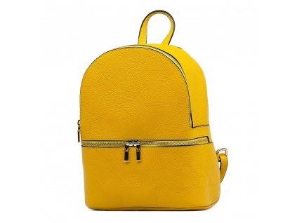 Kožený batůžek Zinnia žlutý