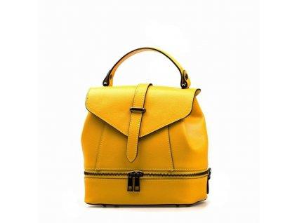 Kožený batůžek Samar žlutý