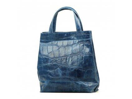 Kožená kabelka Renee džínově modrá