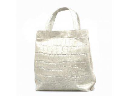 Kožená kabelka Renee béžová
