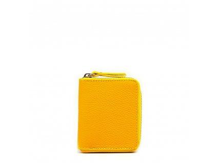 Dámská kožená peněženka Privela žlutá
