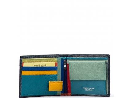 Pánská kožená peněženka Enrica tmavě modrá