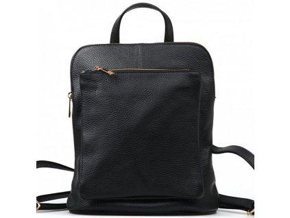 Kožený batůžek Tabby černý