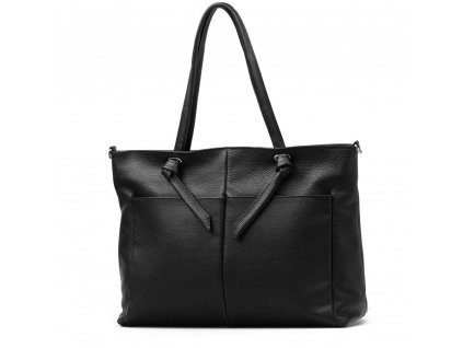 Kožená shopper kabelka Sabine černá