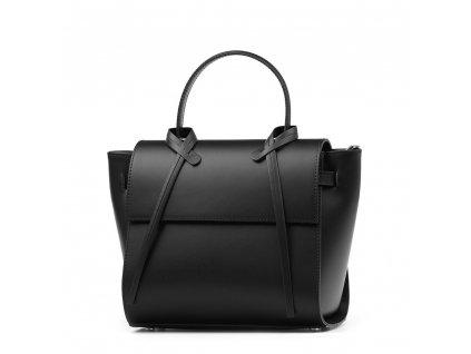 Kožená kabelka Clara černá