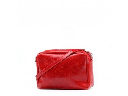 Kožená crossbody kabelka Britta červená