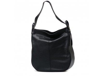 Kožená maxi kabelka Maila černá