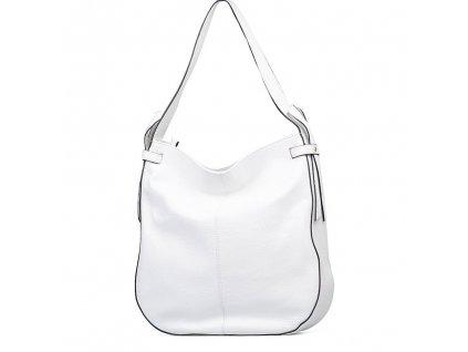 Kožená maxi kabelka Maila bílá