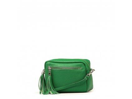 Kožená crossbody kabelka Gina zelená