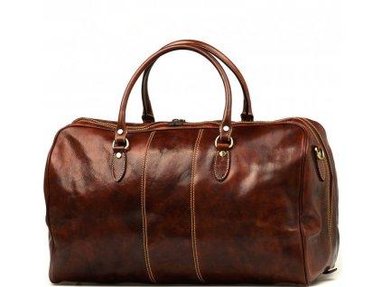 Kožená cestovní taška Josslyn hnědá