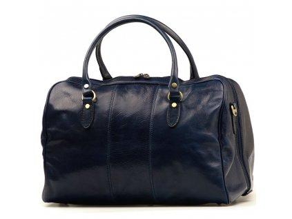 Kožená cestovní taška Verity modrá