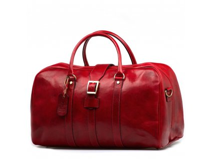 Kožená cestovní taška Modena červená